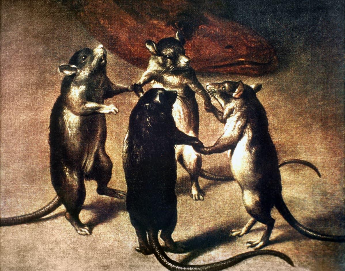 Rottien tanssi -maalaus