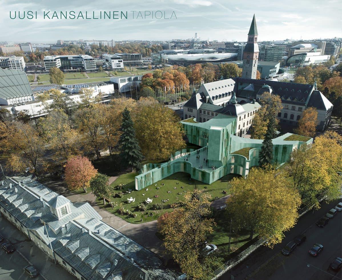 Kansallismuseon lisärakennusehdotus Tapiola