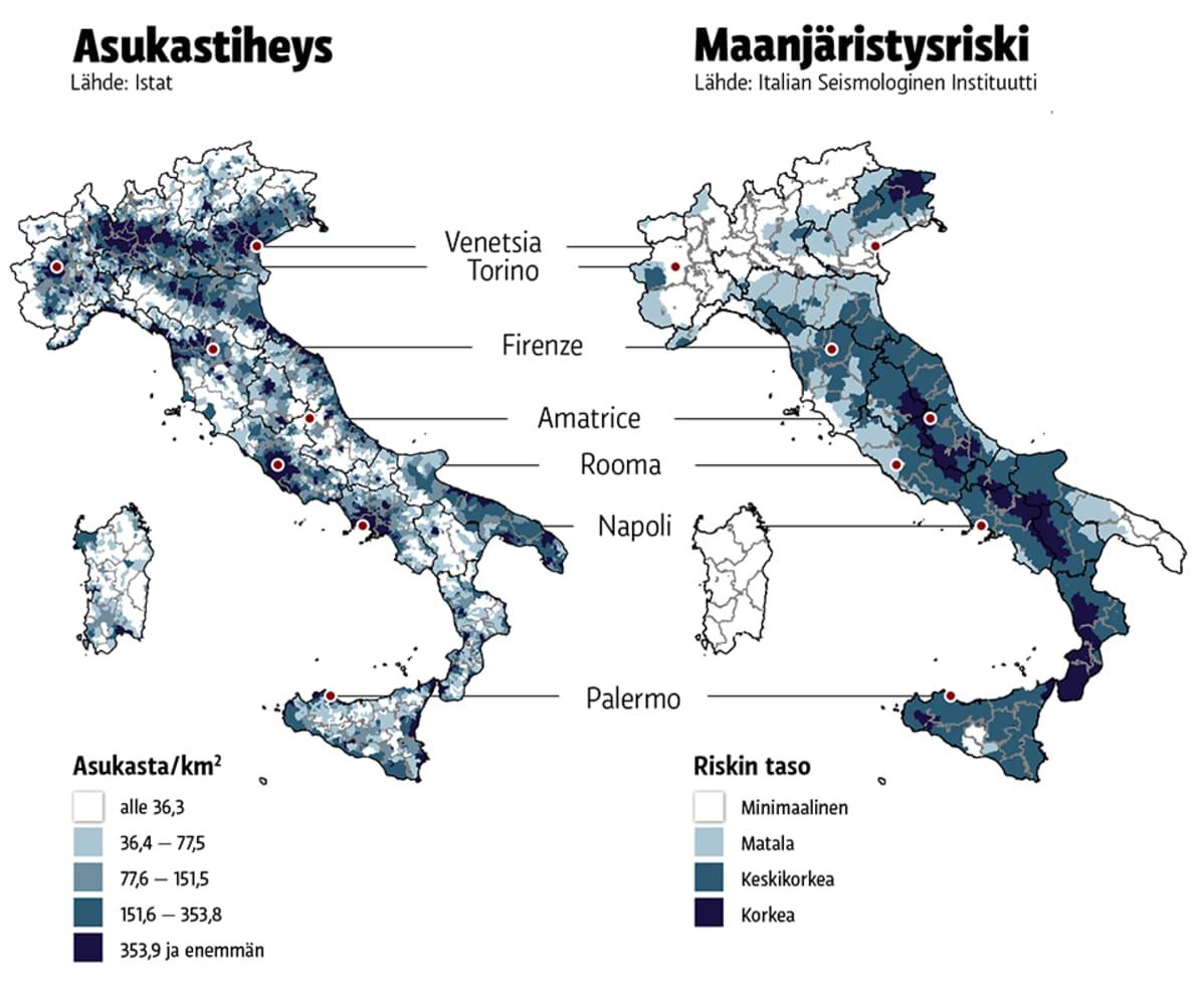 Italian Maanjaristysalueella Tarkastetaan Talojen Kuntoa