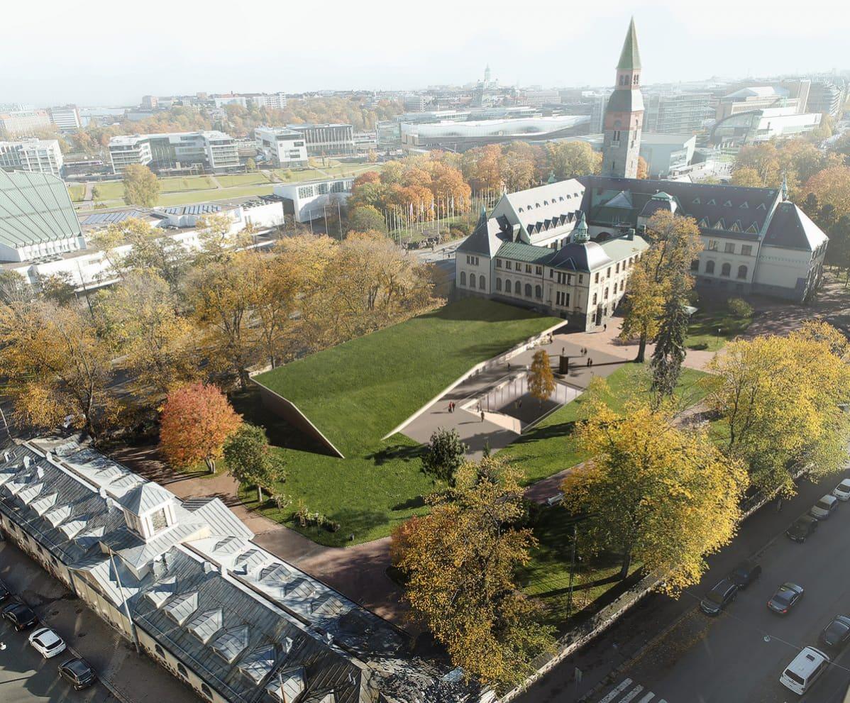 Kansallismuseon lisärakennusehdotus Kallas