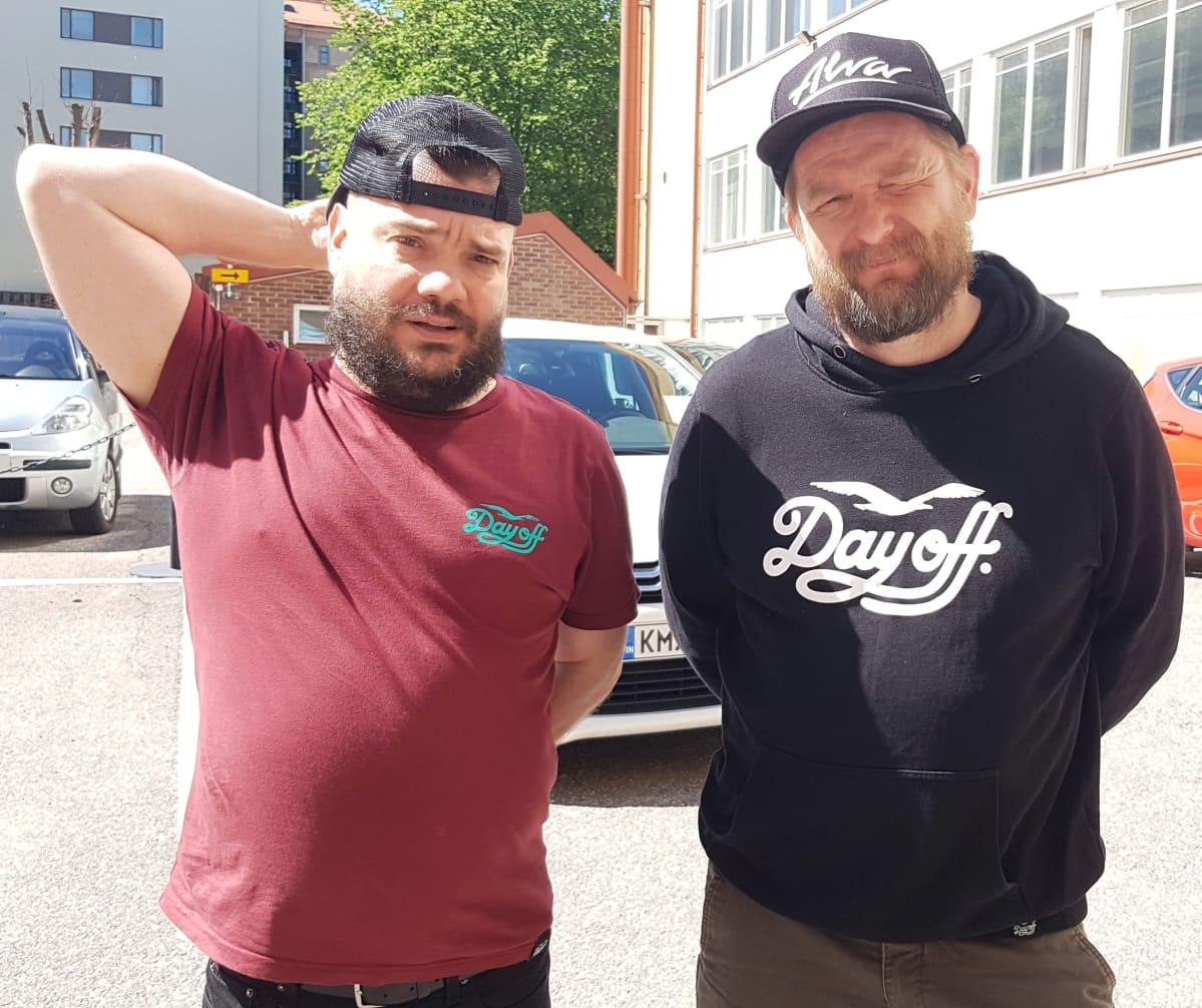 Stand up -koomikot Zaani ja Mika Eirtovaara.
