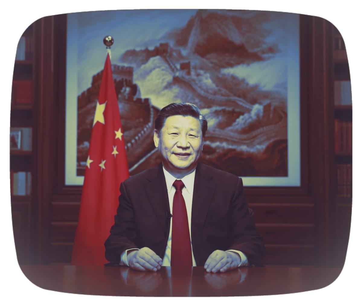 Käsitelty kuva Xi Jinpingistä.