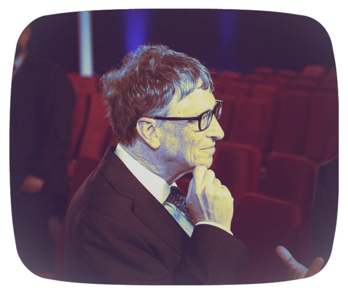 Käsitelty kuva Bill Gatesista.