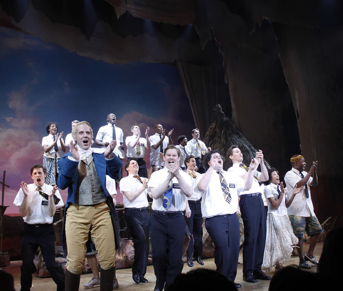 Musikaali Book of Mormon.