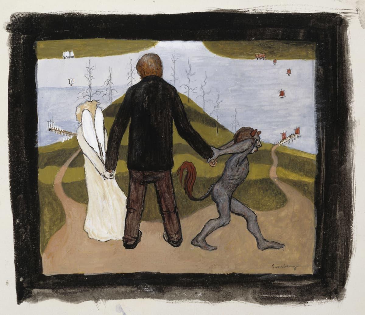 Hugo Simberg: Tienhaarassa