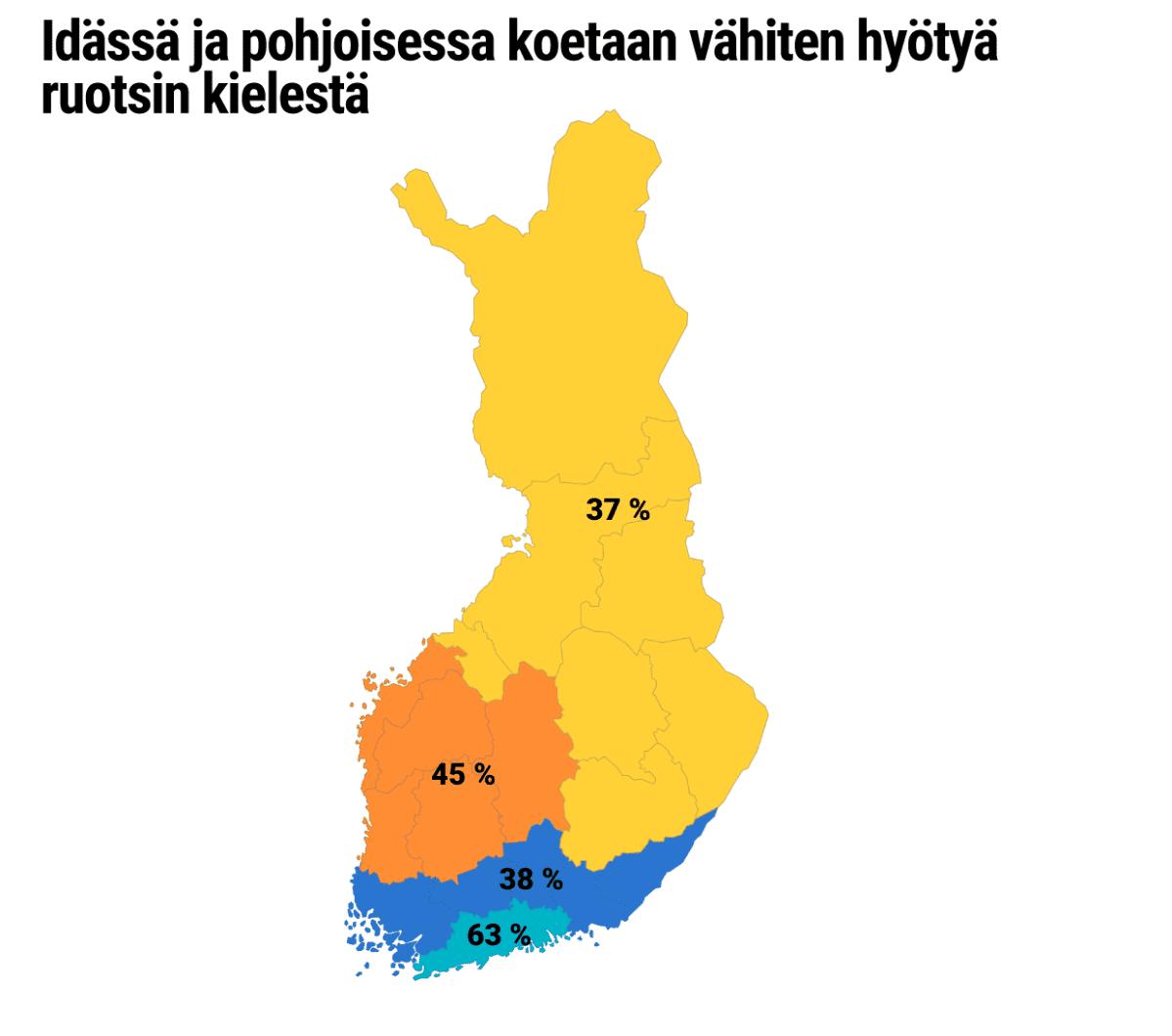 Tilastografiikka Suomen kartta