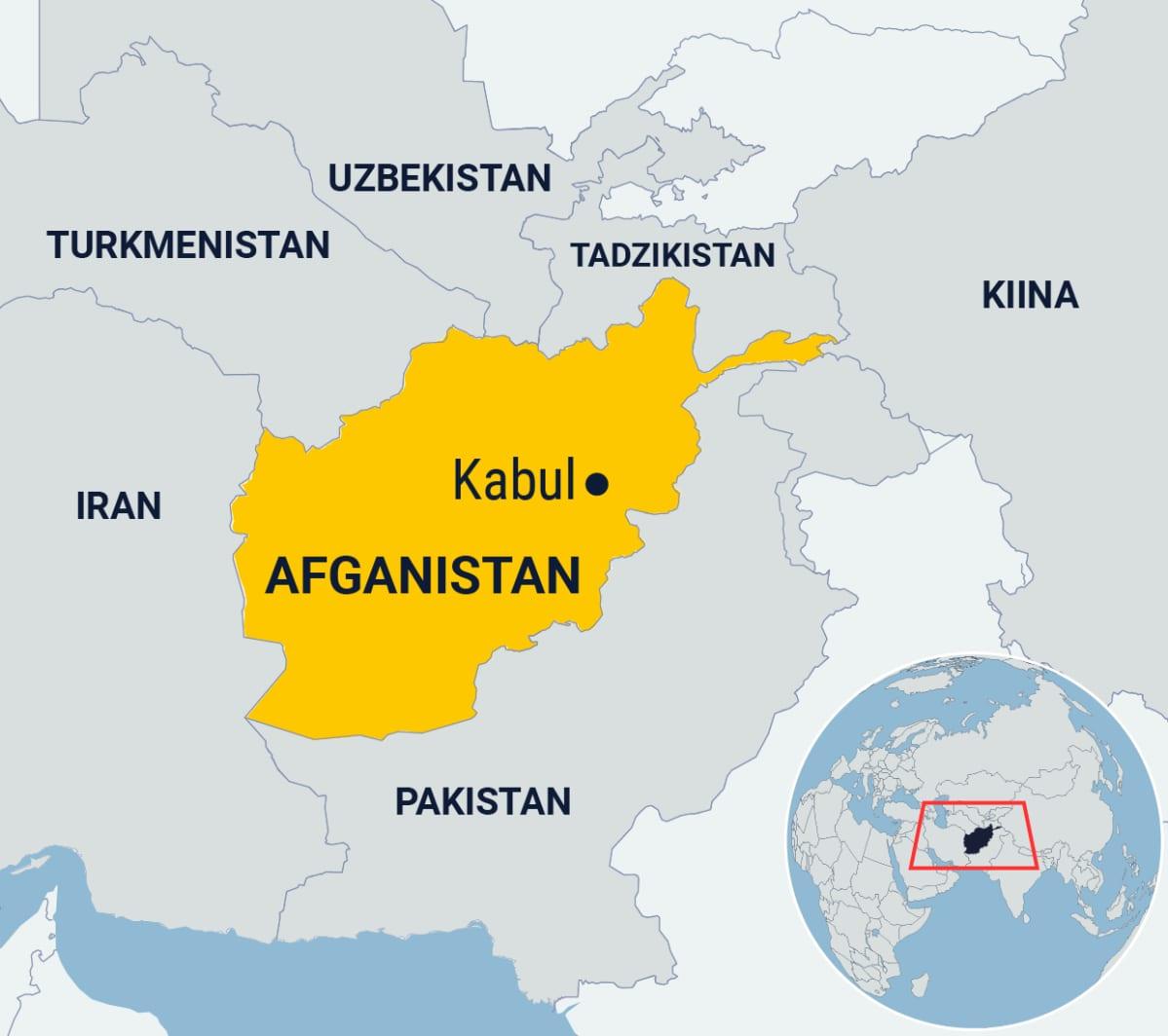 Afganistanin kartta.