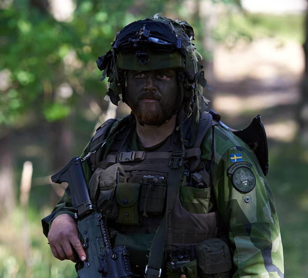Ruotsalainen sotilas.