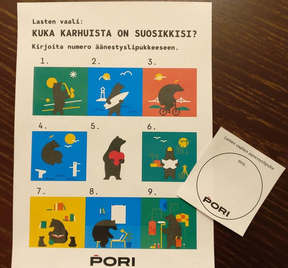 Lasten vaalit Porissa 2018.