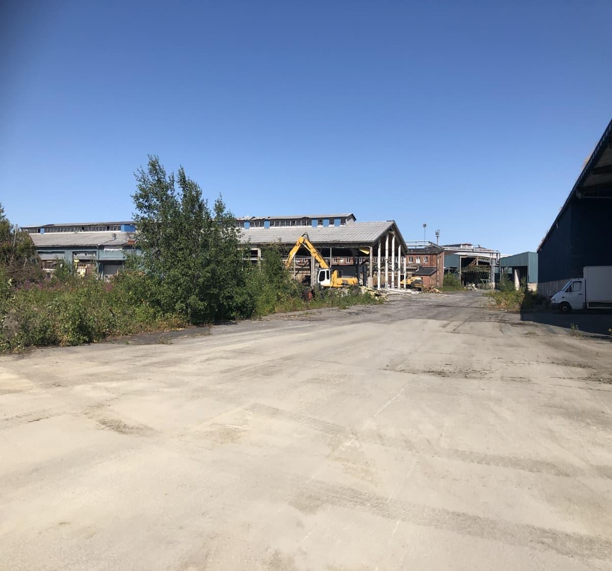 Metsä Groupin Kemin tehdas purkutyöt