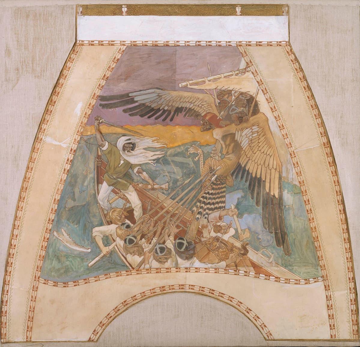 Gallen-Kallelan freskoluonnokset - Sammon puolustus