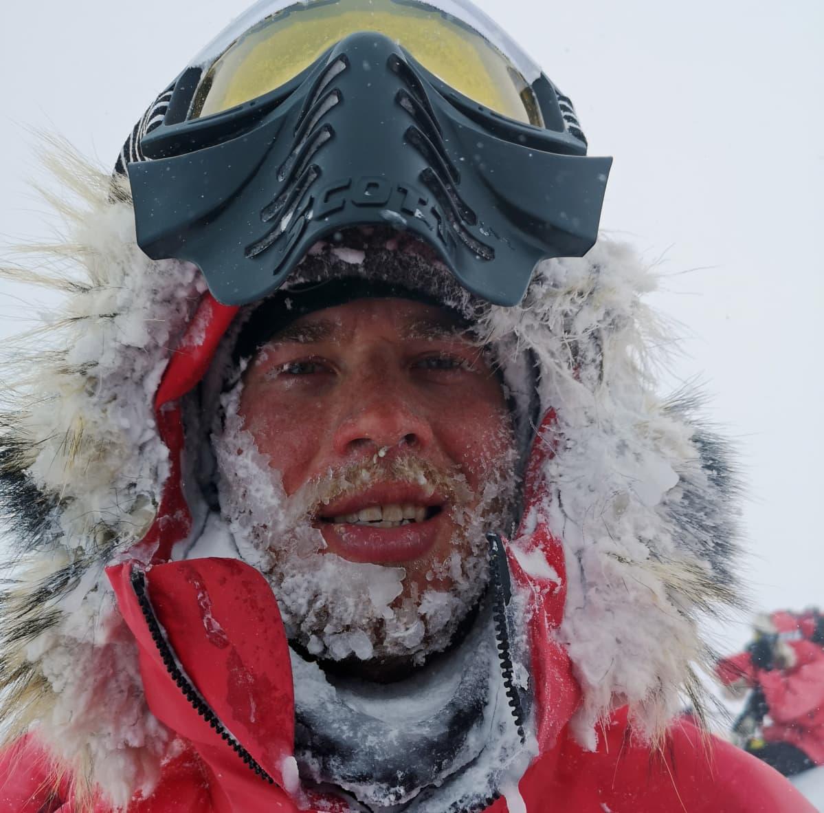 Verneri Nurmi parta jäässä