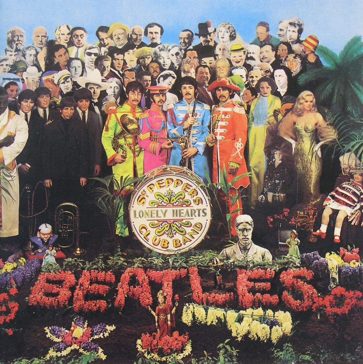 Beatlesin Sgt. Pepper's Lonely Hearts Club Band -levyn kansikuva.