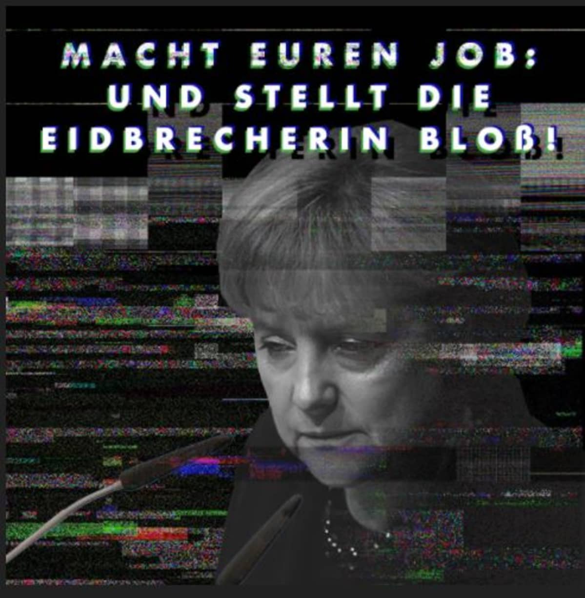 Kuvakaappaus Merkel  die Eidbrecherin -sivustolta
