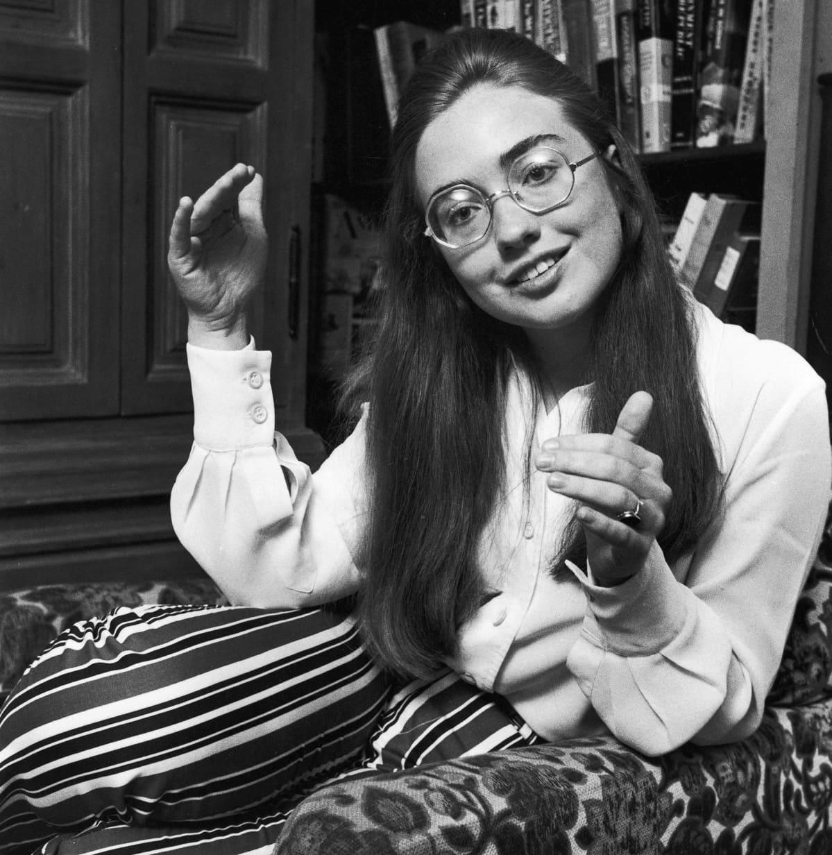 Hillary Clinton Life-lehden haastattelussa Wellesley Collegessa 1960-luvulla.