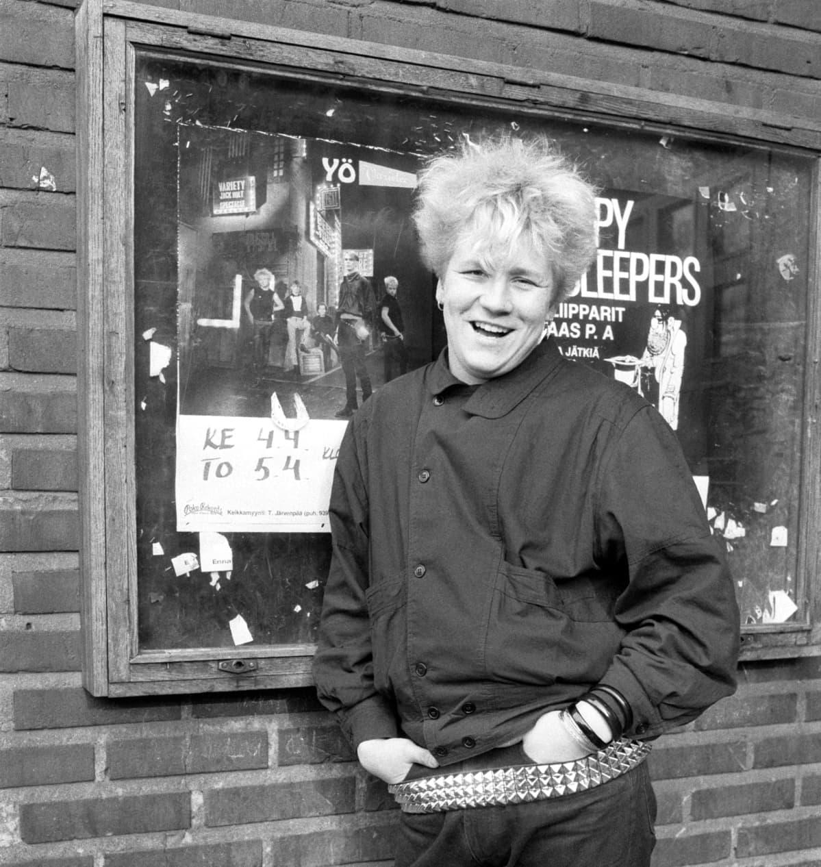 Olli Lindholm kuvattuna huhtikuussa 1984.