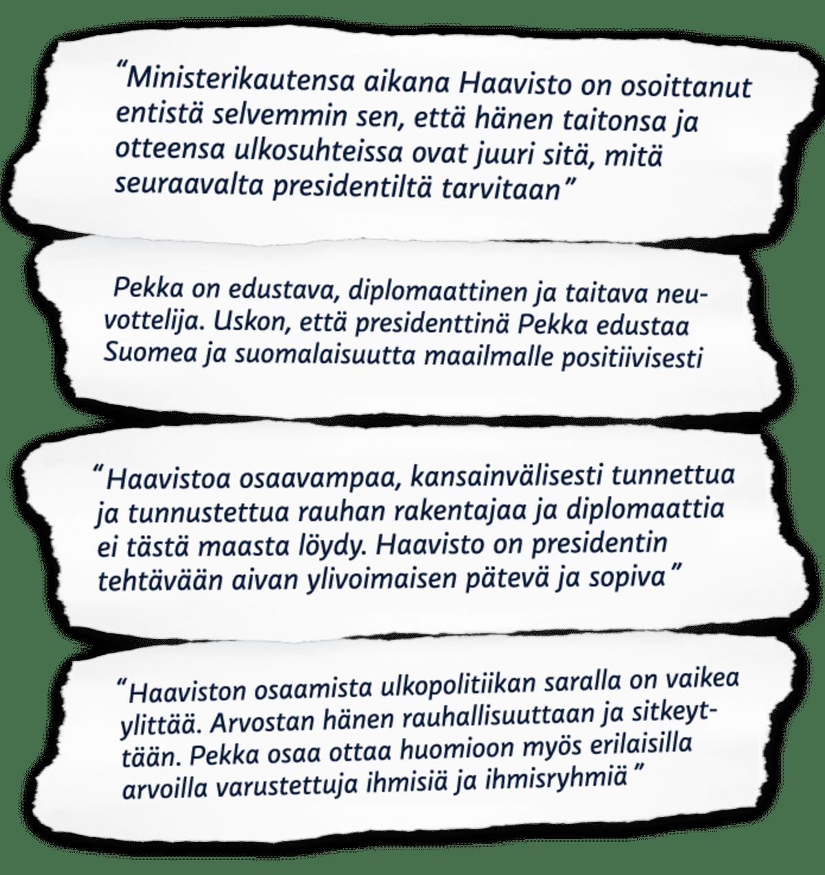 Vihreiden kehuja Pekka Haaviston presidenttikampanjan tueksi.