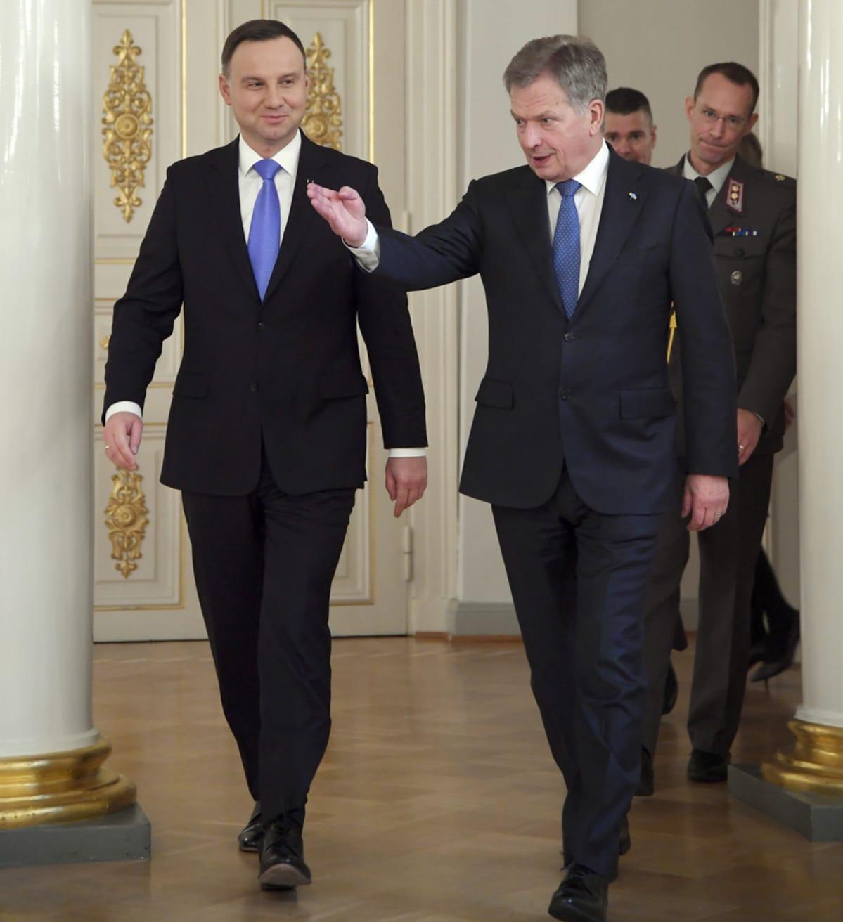 Andrzej Duda ja Sauli Niinistö