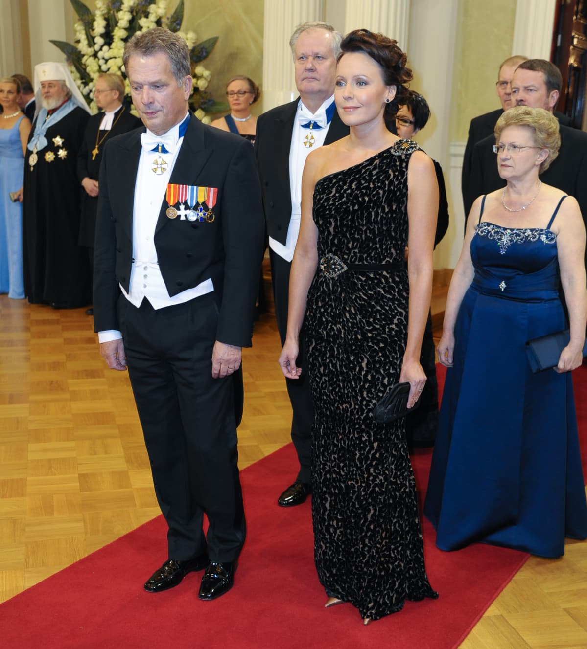 Sauli Niinistö Jenni Haukio, Itsenäisyyspäivän vastaanotto Tasavallan Presidentin Linnassa. vuonna 2010.