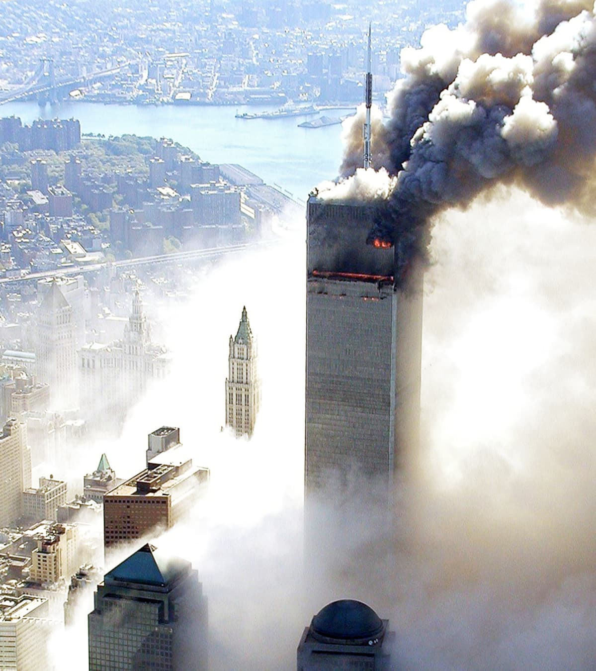 WTC-isku New Yorkissa 11.9. 2001.