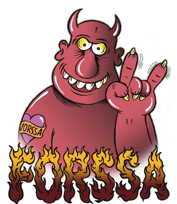 Forssa tempaisee helvetin tulirotko tapahtuman. Kuvassa pirulainen liekeissä