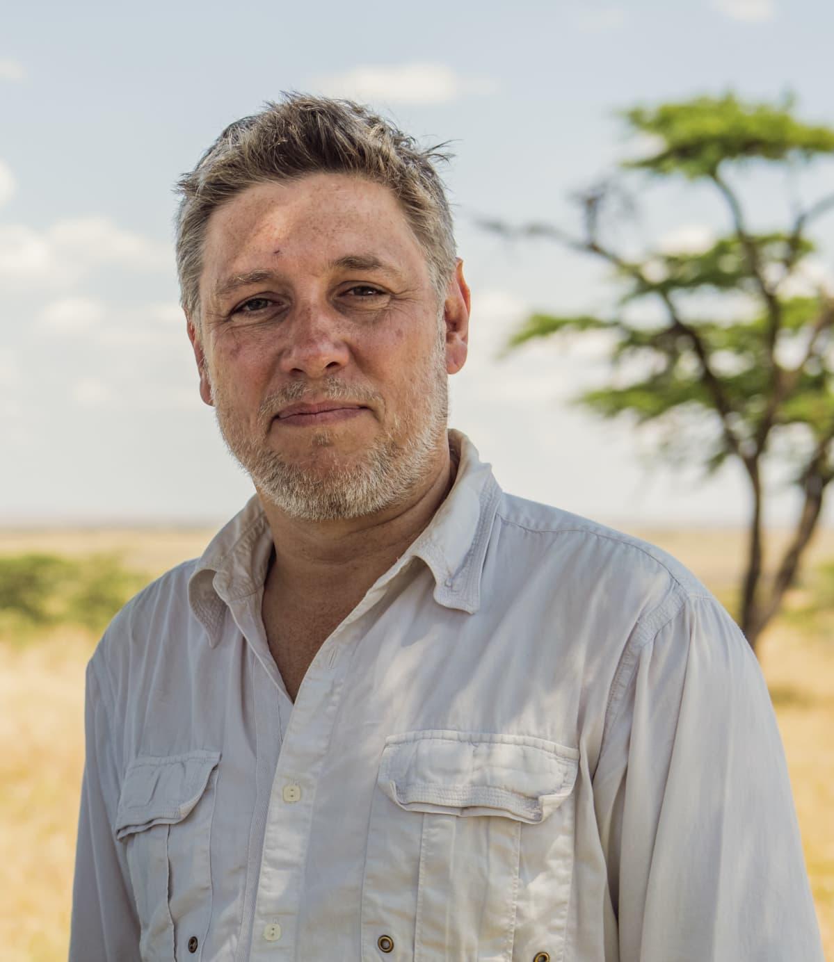 Jonnie Hughes Masai Maran luonnonsuojelualueella Keniassa 2020.