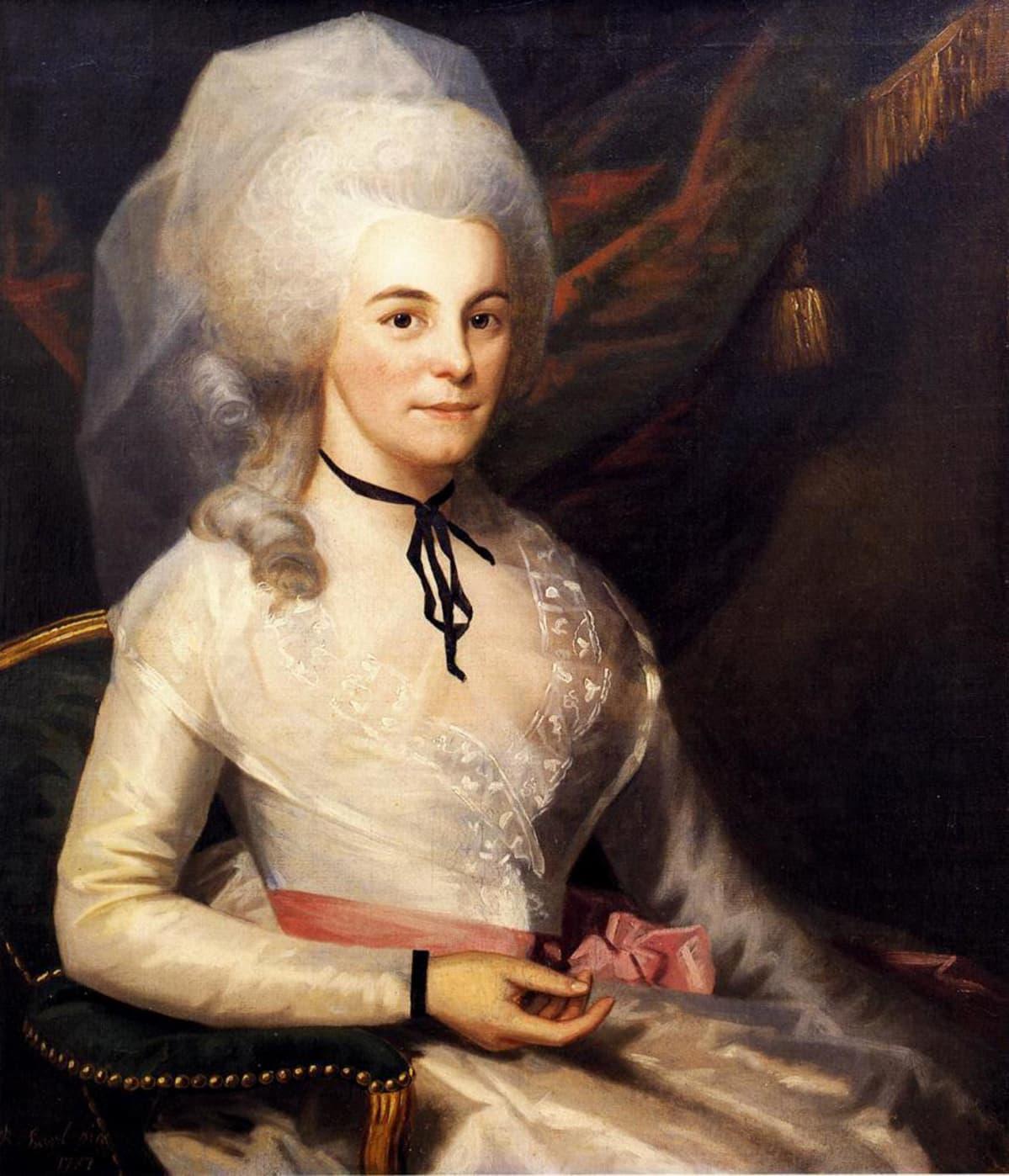 Elizabeth Schuyler Hamilton, maalaus vuodelta 1787