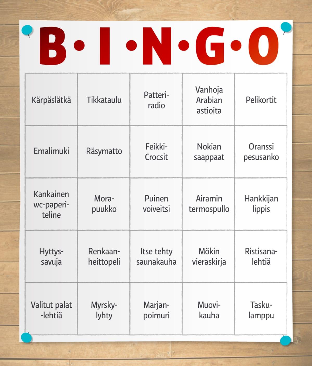 Bingo-taulukko