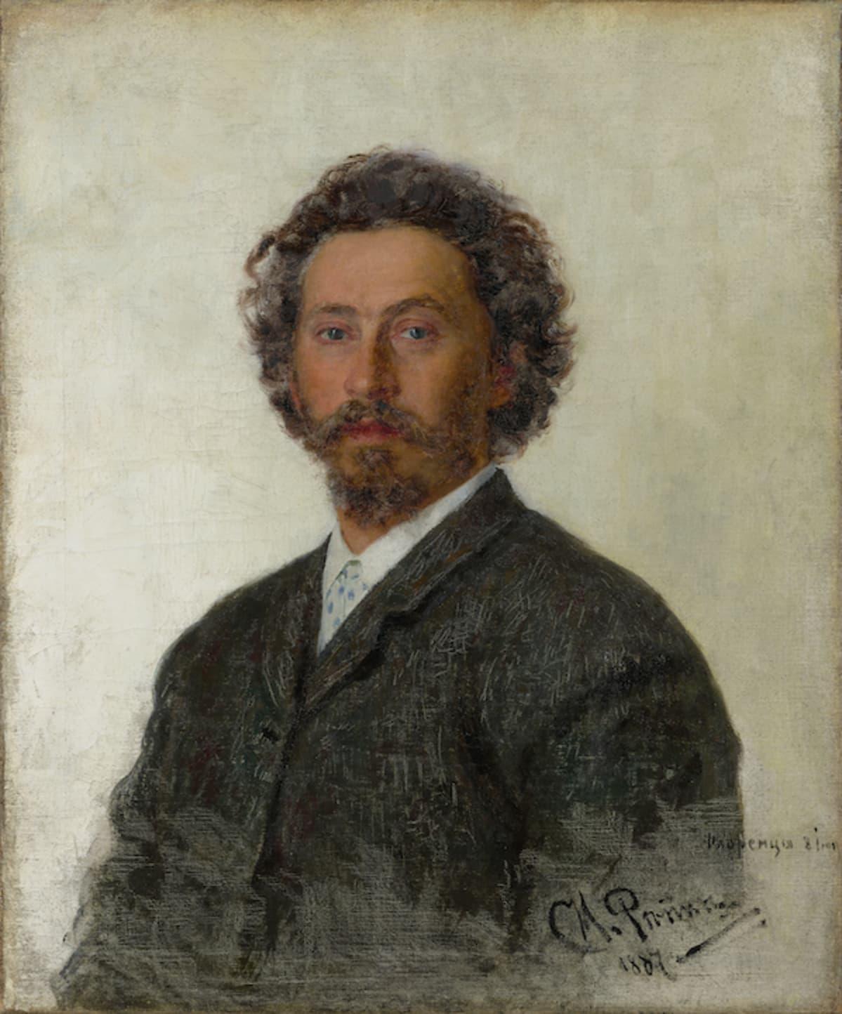Ilja Repin: Omakuva vuodelta 1887.