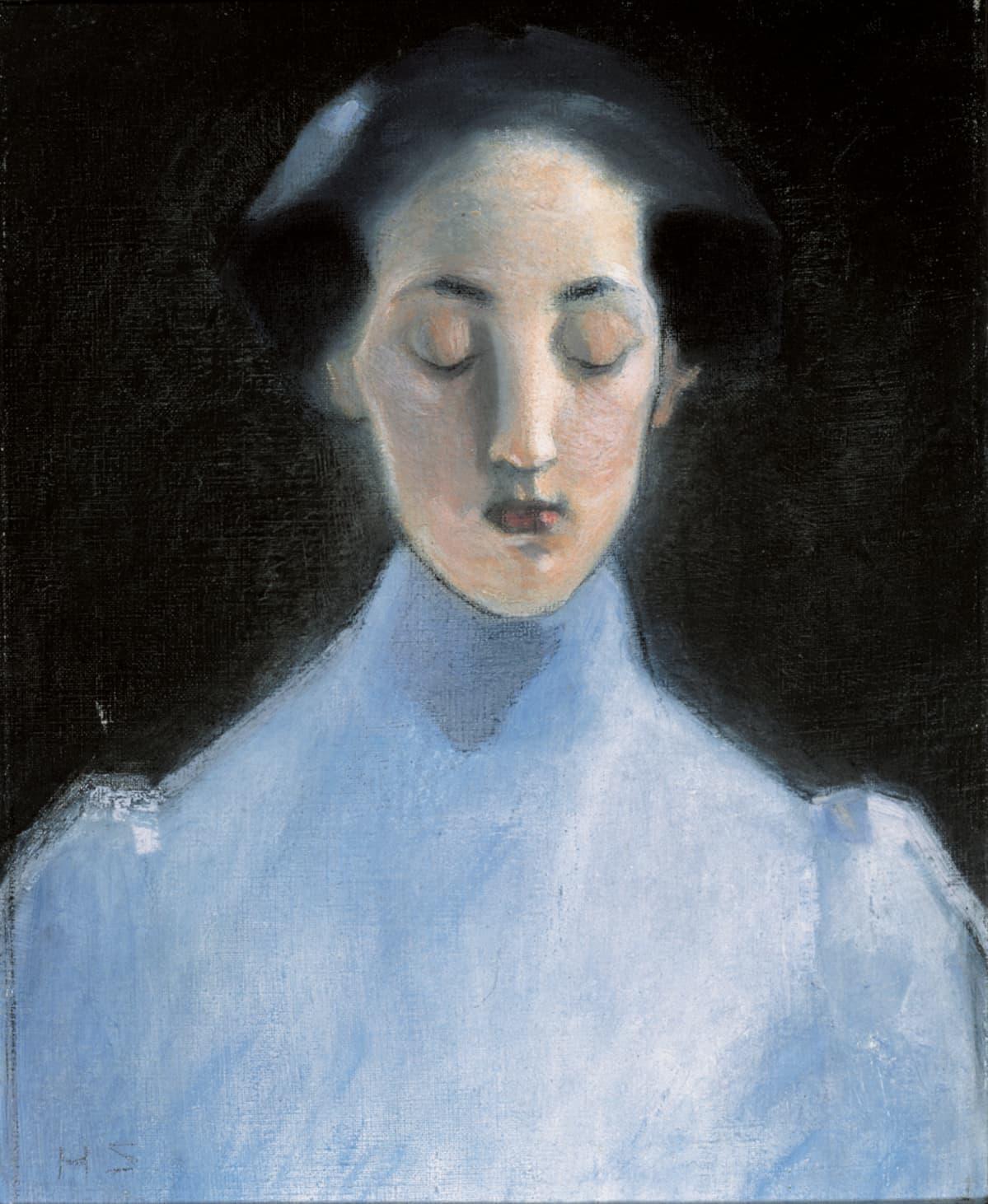 Helene Schjerfbeck: Hiljaisuus (1907), öljy kankaalle.