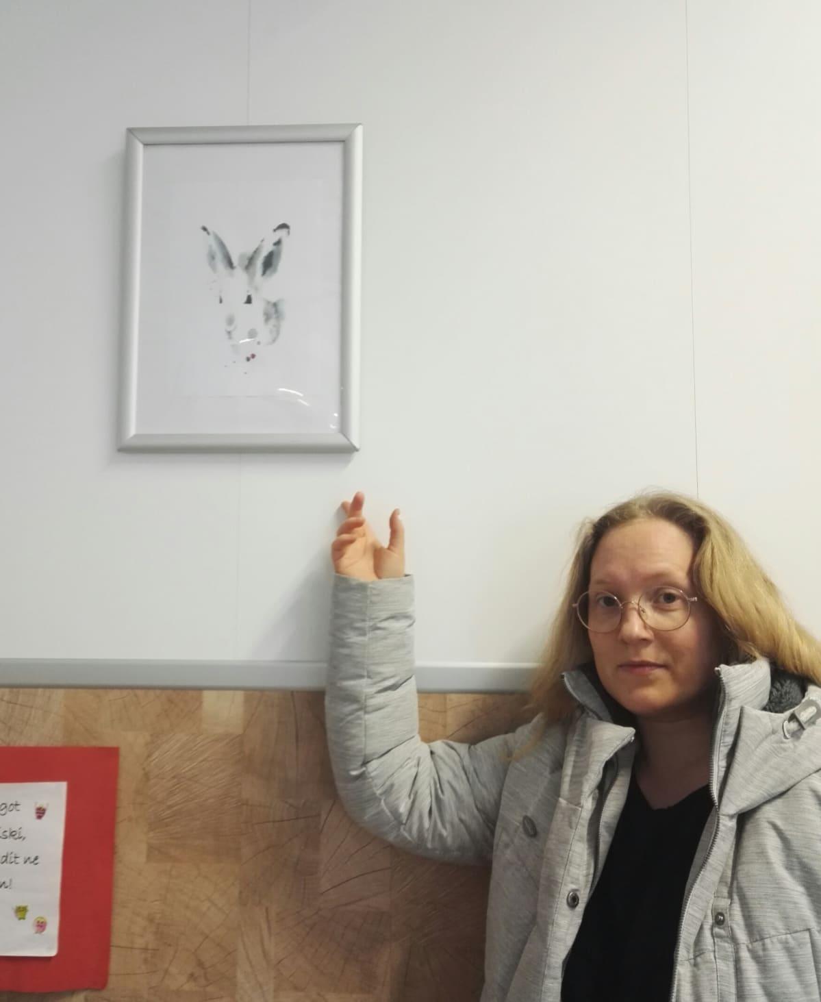 Luvaton kopio Elisa Ahosen teoksesta, kuvassa E. Ahonen