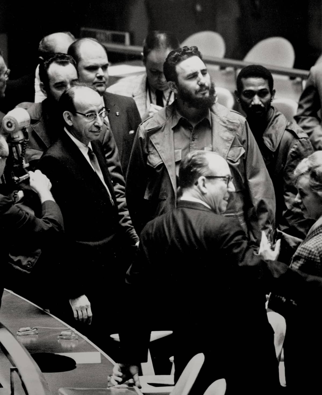 Fidel Castro New Yorkissa syyskuussa 1960.