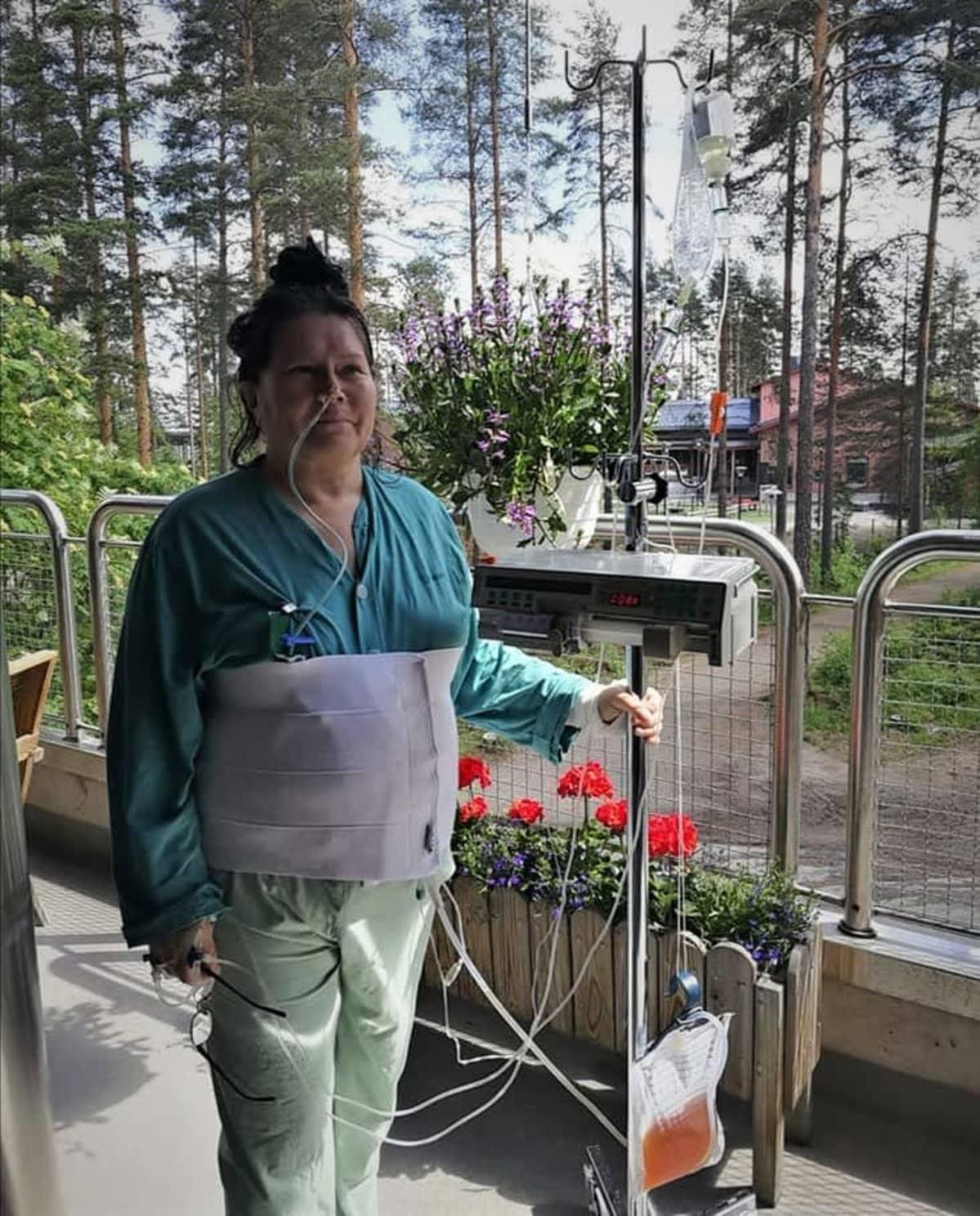 Heli Tuikka Keski-Suomen keskussairaalassa kesällä 2019.