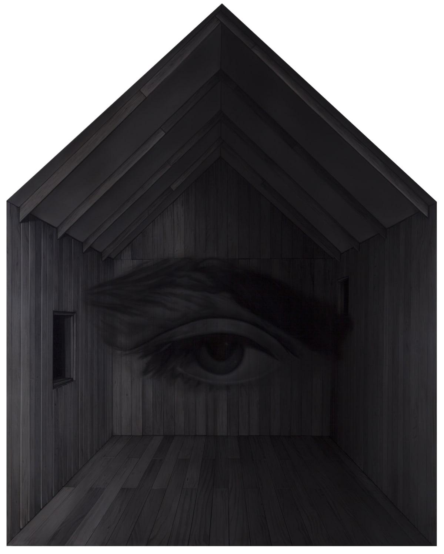 Kari Vehosalon teos, Unabomber Home, 2017 .