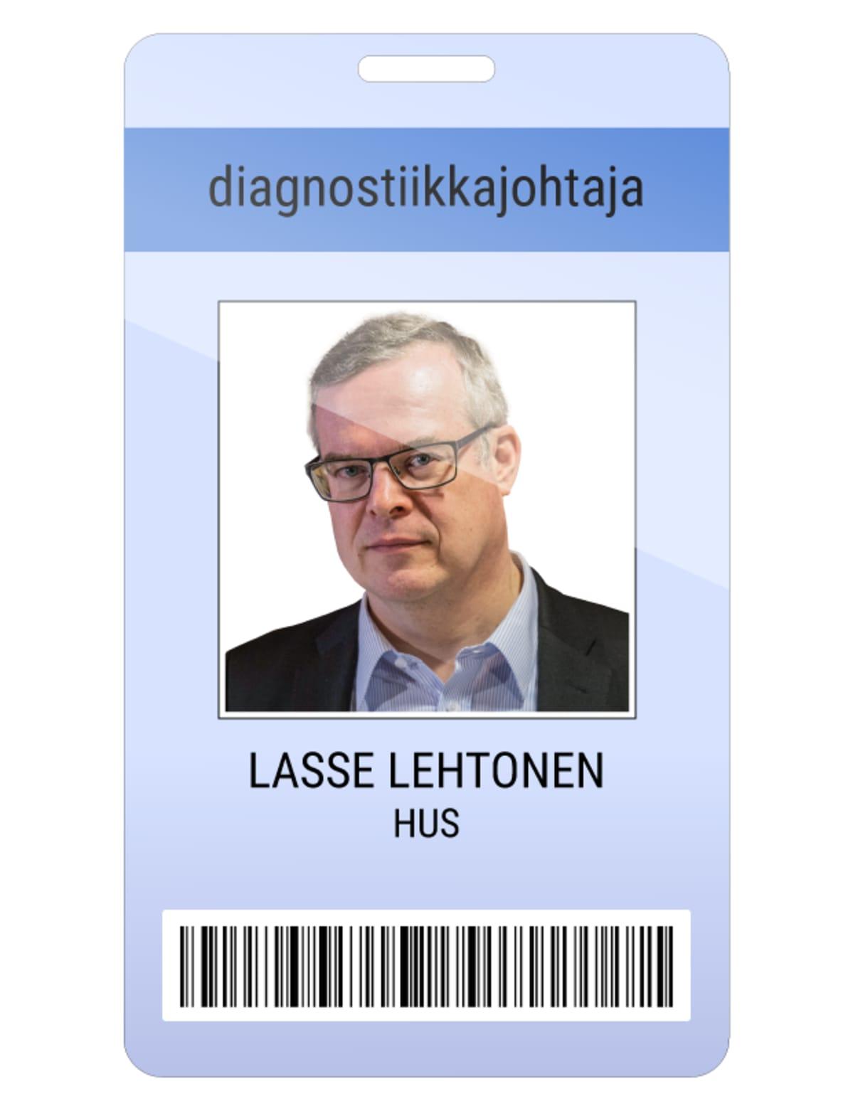 Lasse Lehtonen kuvitteellinen kulkukortti.