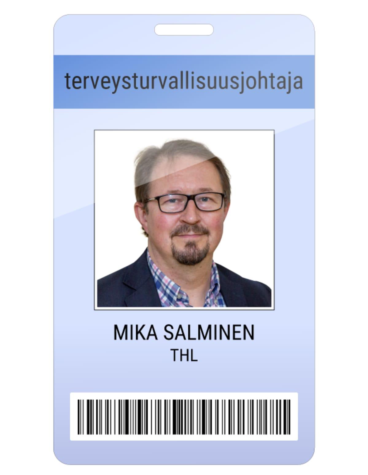 Mika Salminen kuvitteellinen kulkukortti.
