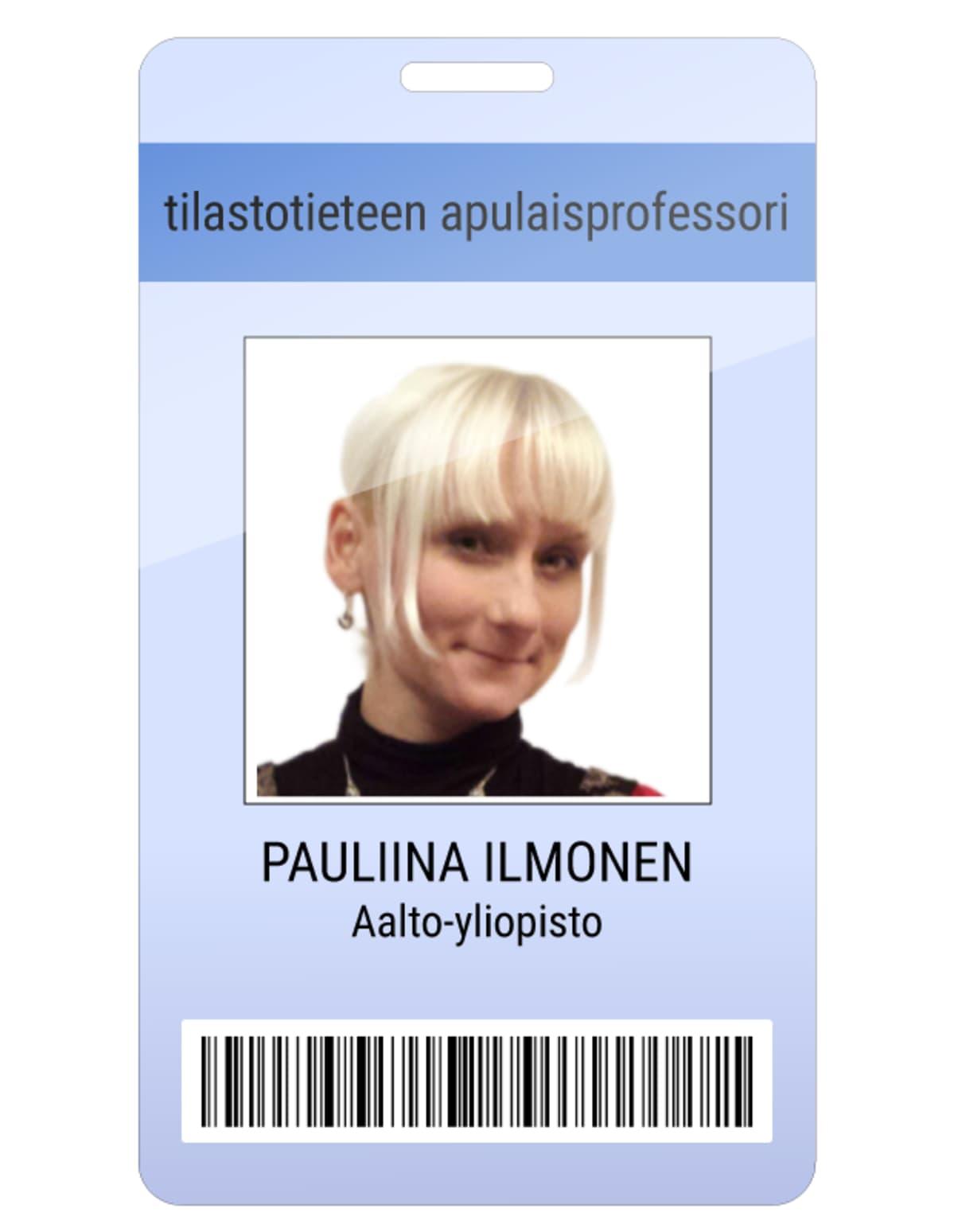 Pauliina Ilmonen kuvitteellinen kulkukortti.