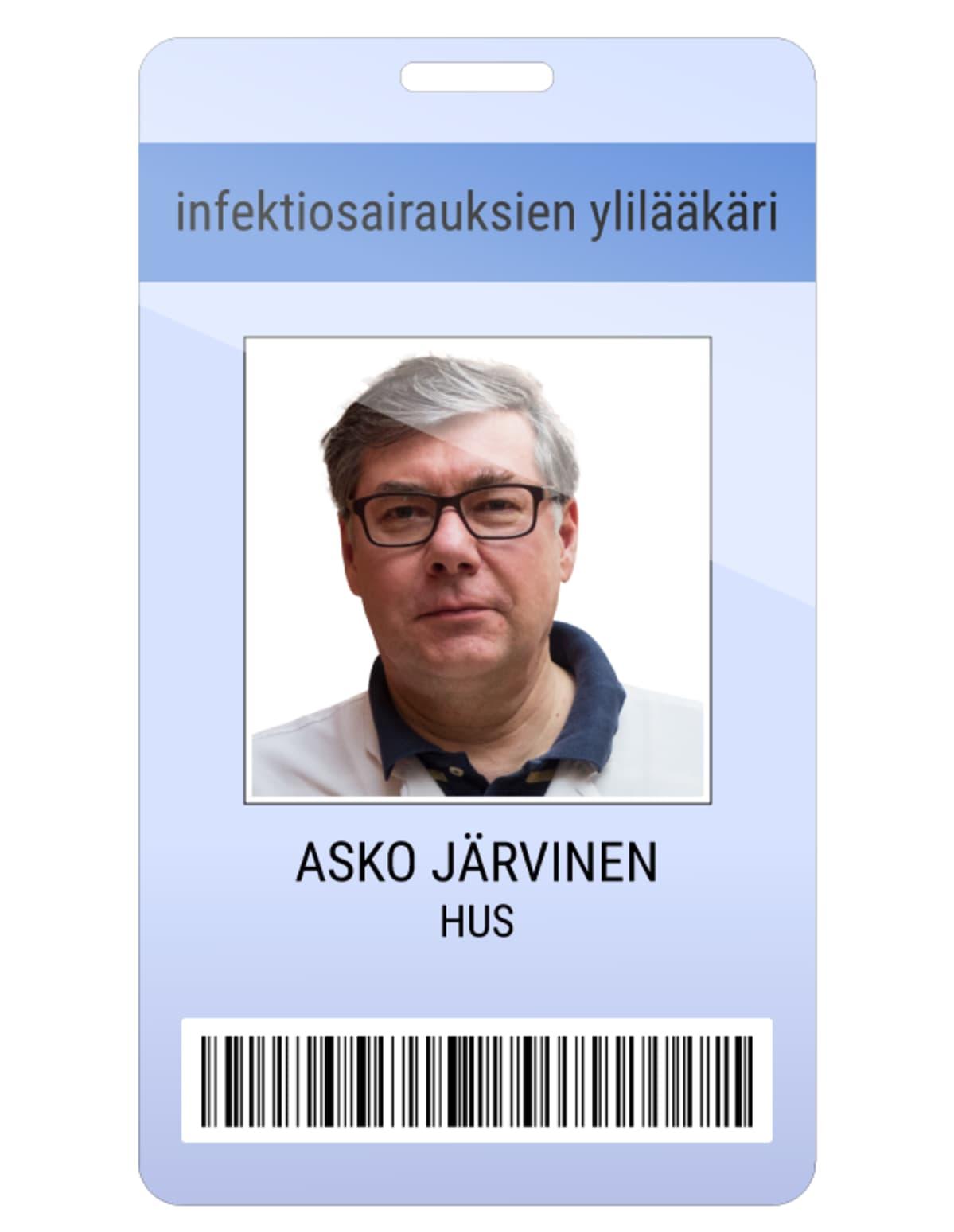 Asko Järvinen kuvitteellinen kulkukortti.