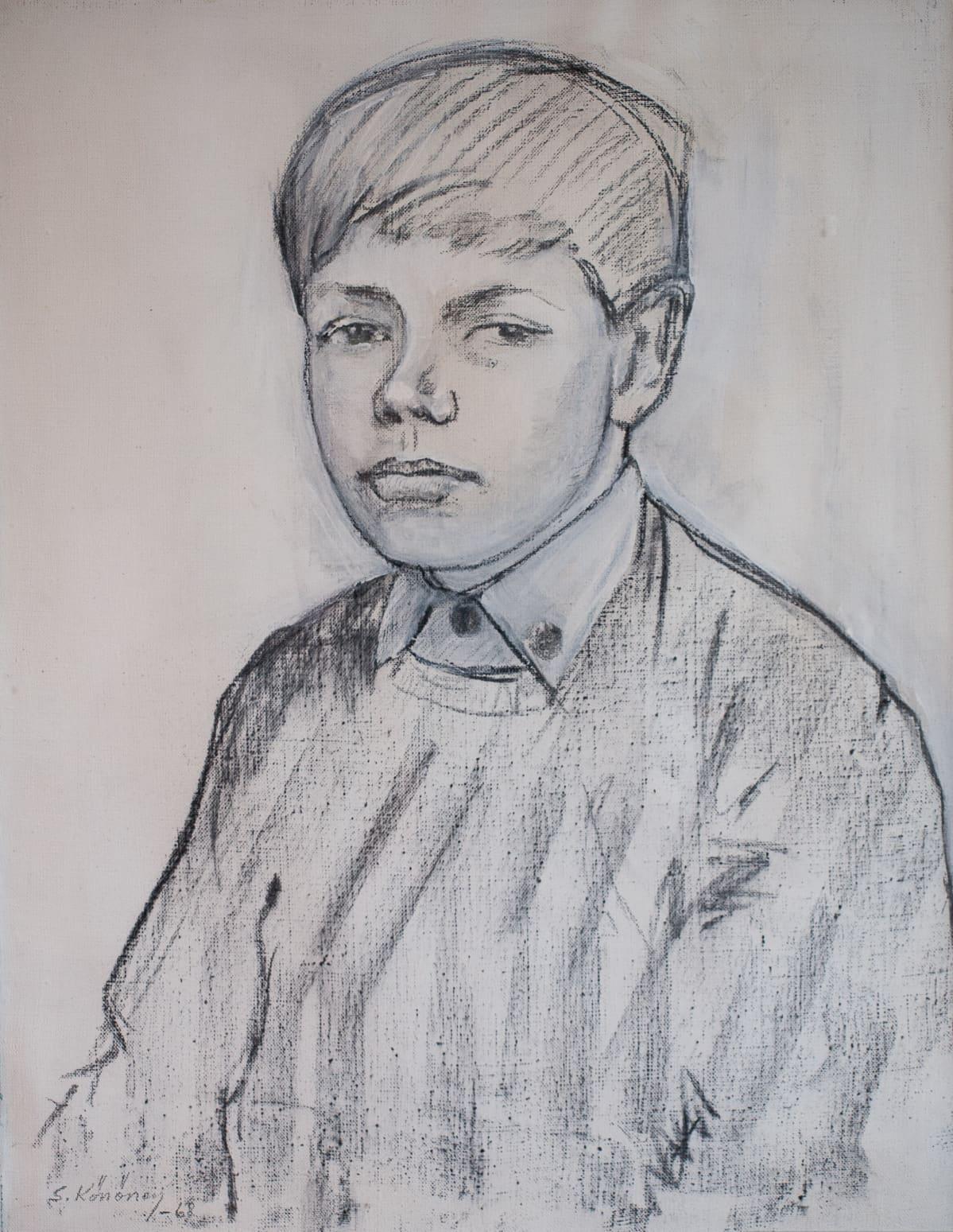 Jouni Mömmön muotokuva. Piirtäjä Seppo Könönen, 1968.