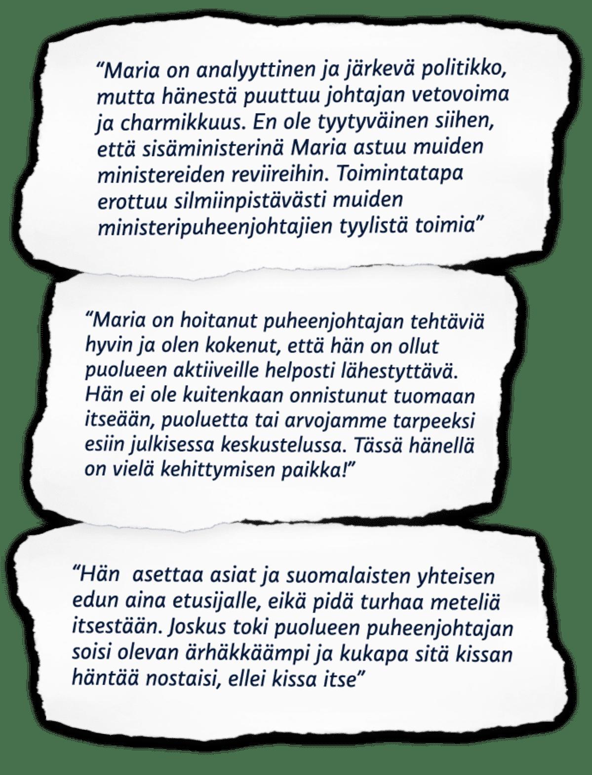 Vihreiden kritiikkiä Ohisalolle.