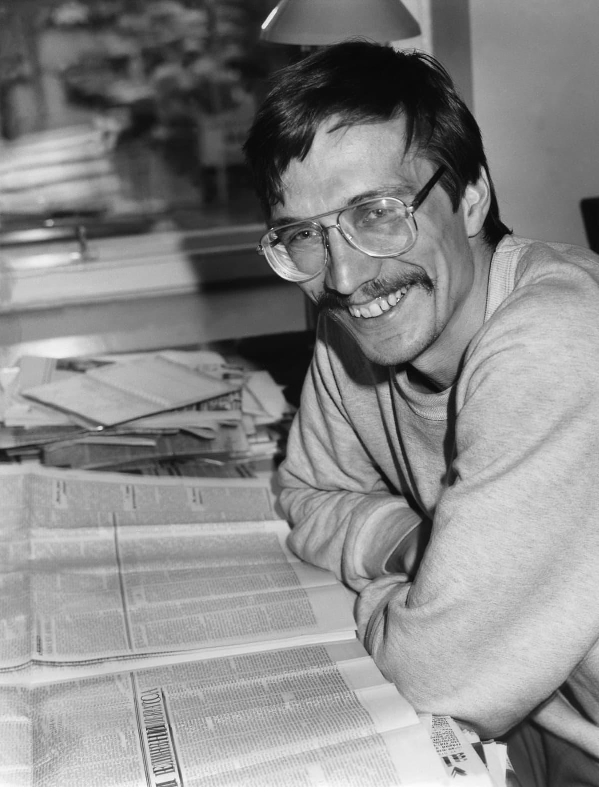 Nils Torvalds vuonna 1981