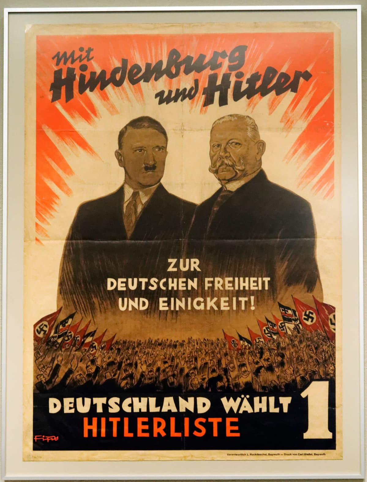 Adolf Hitler ja Paul von Hindenburg julisteessa