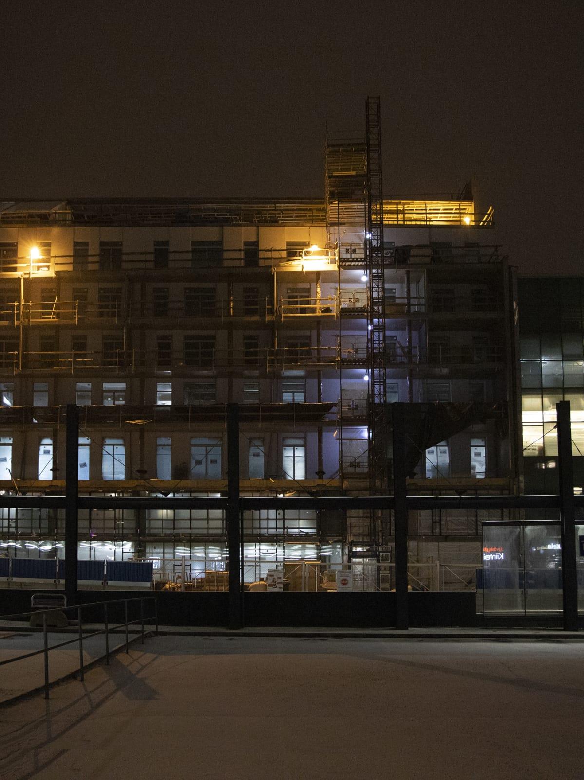 Reimari-talon rakennustyömaa.