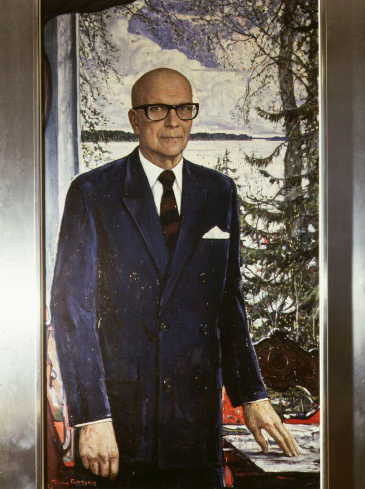 Ilja Glazunovin presidentti Urho Kekkosesta maalaama muotokuva vuodelta 1973.