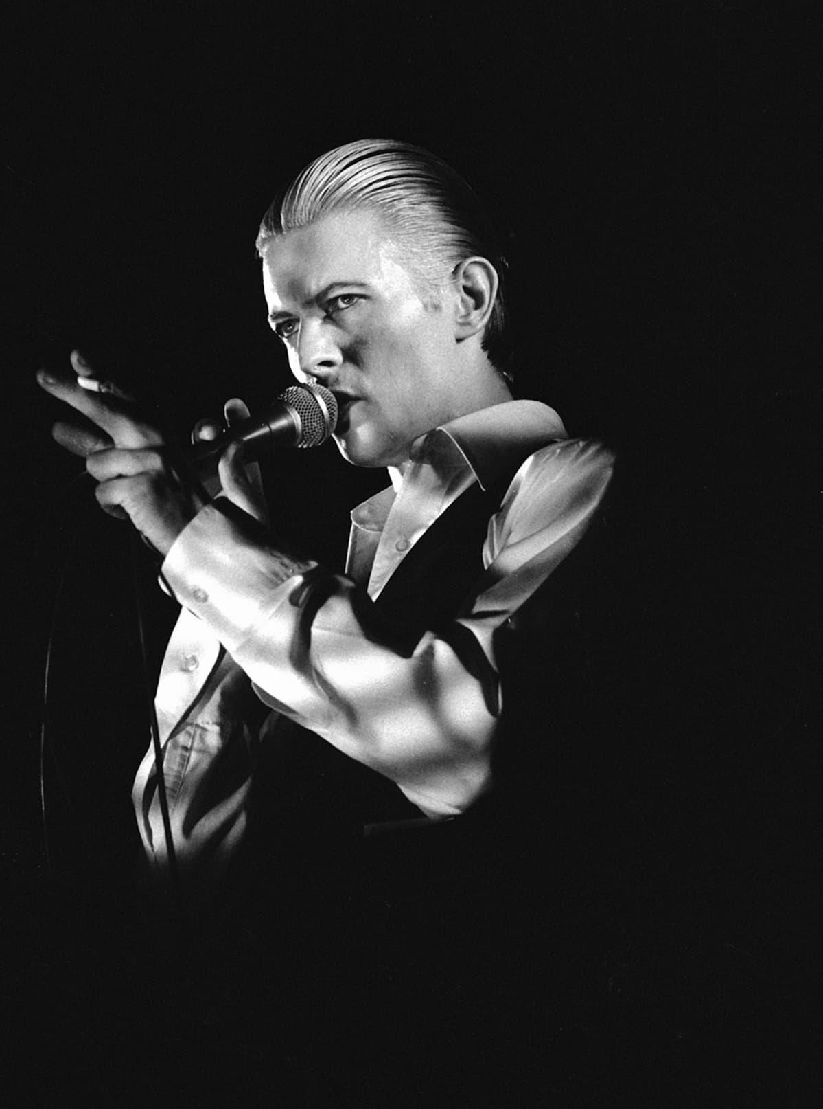 David Bowie Helsingissä vuonna 1976.