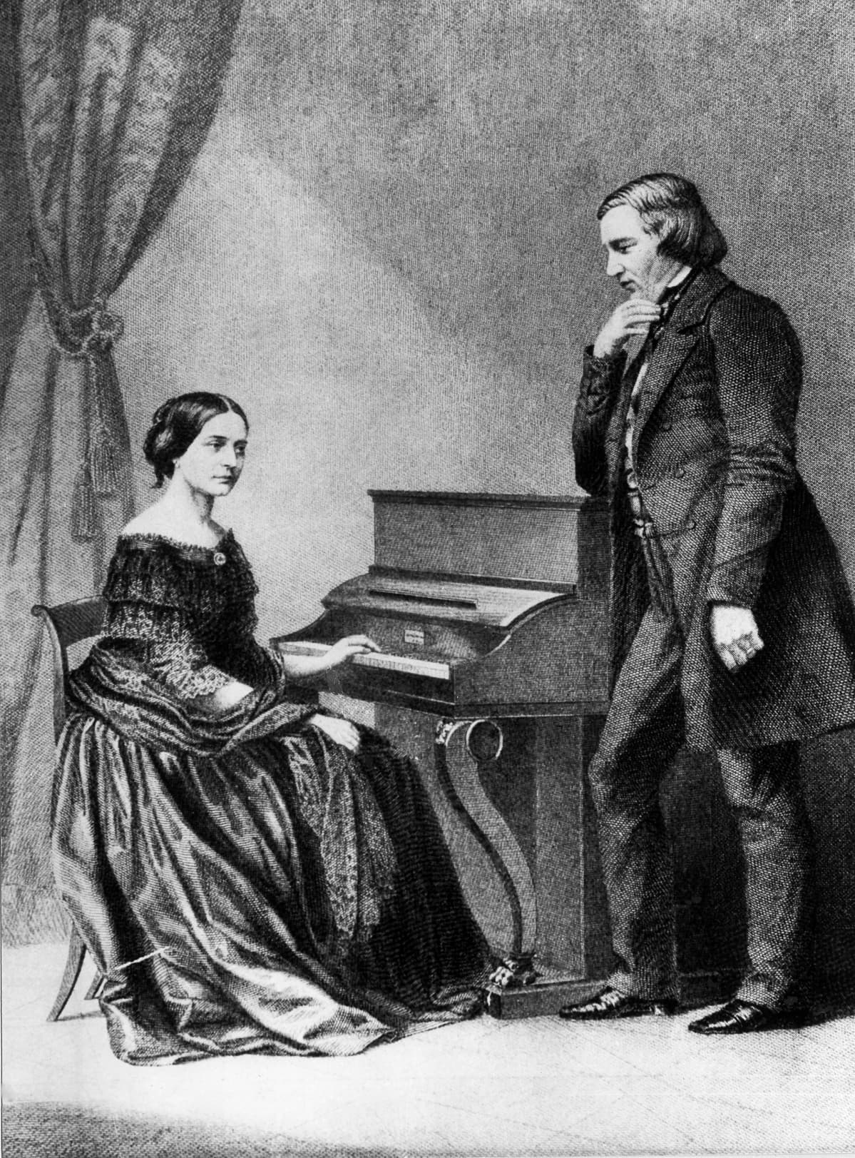 Clara ja Robert Schumann