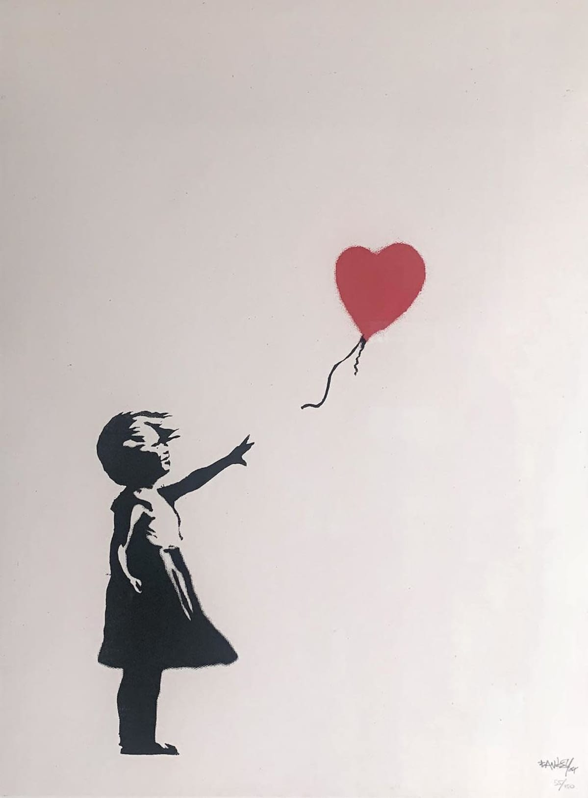 Banksyn teos The girl with Balloon.