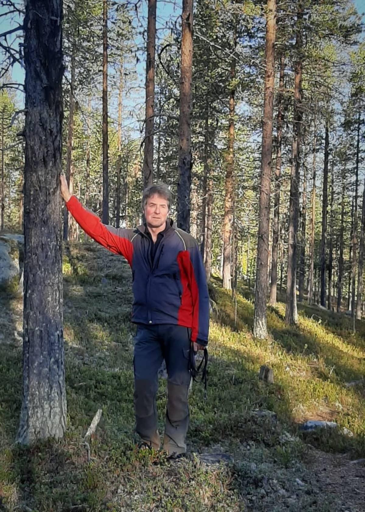Metsäteknikko Meinrad Rohner Jokkmokkissa syyskuussa 2020.