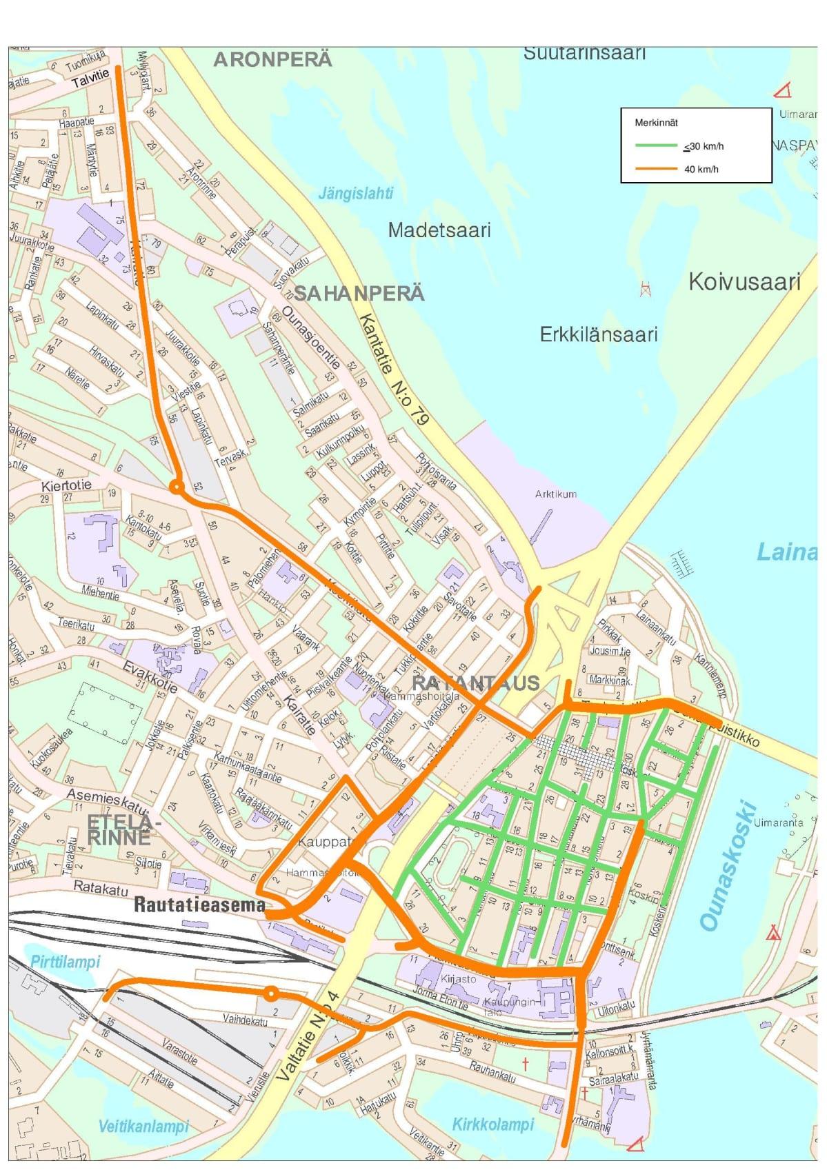 Nopeusrajoitukset Laskevat Rovaniemen Ydinkeskustassa 30