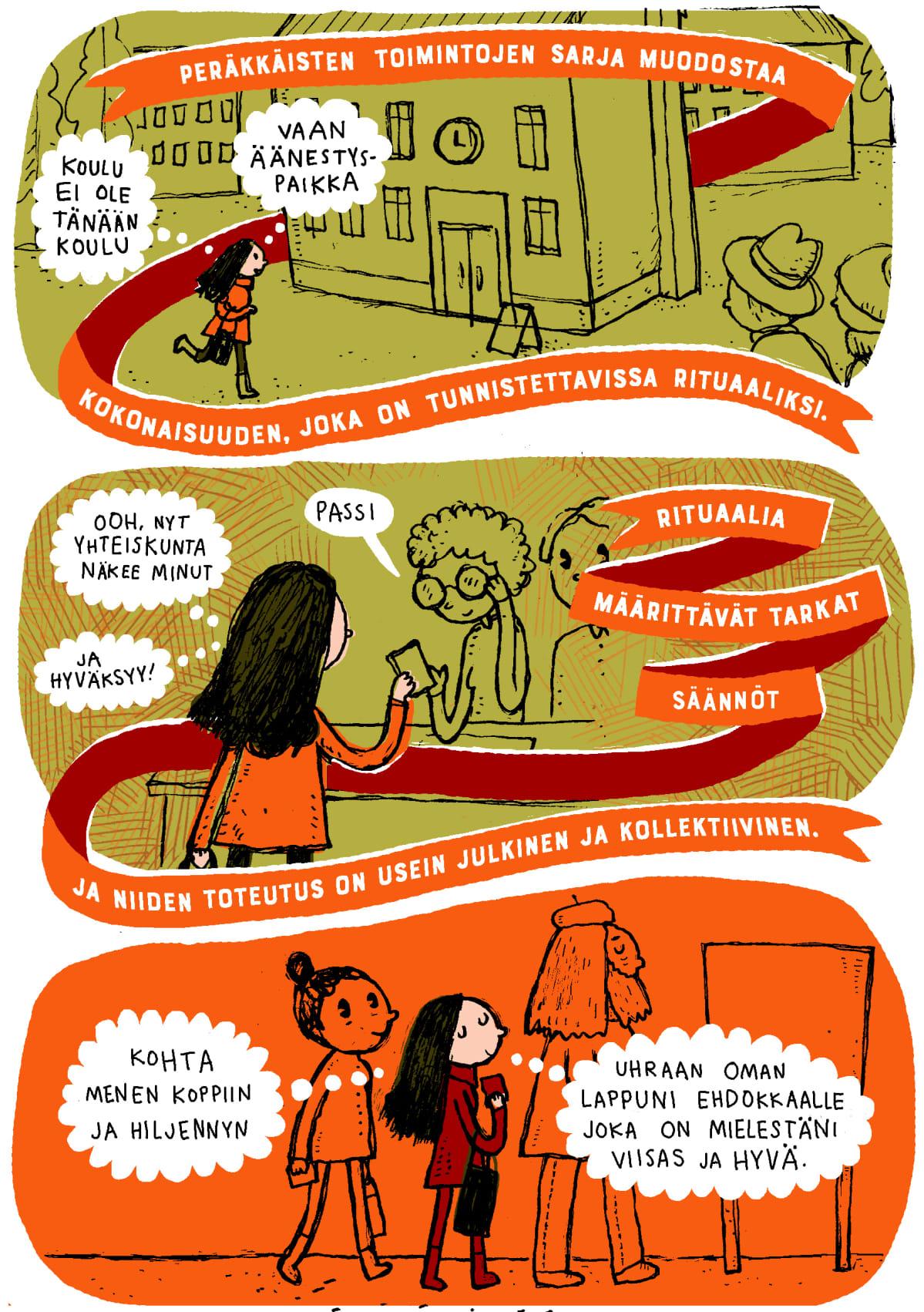 Aiju Salminen, sarjakuvakolumni, äänestäminen, kuva 2